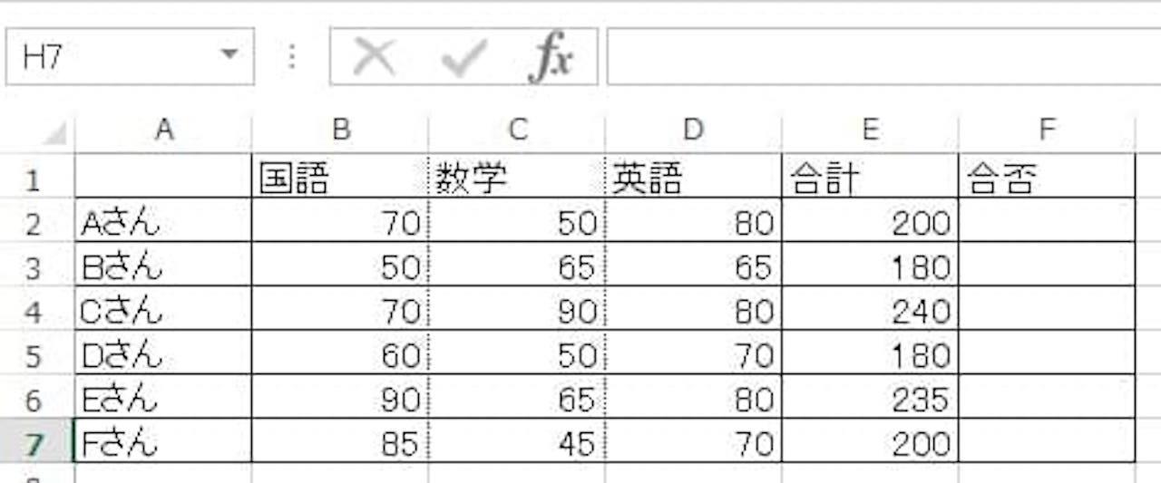 AND関数とIF関数を組み合わせた使い方①