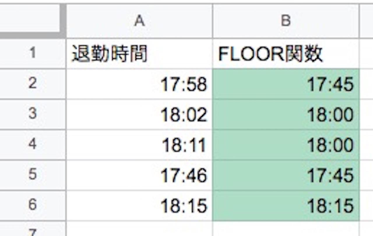 FLOOR関数の使い方③