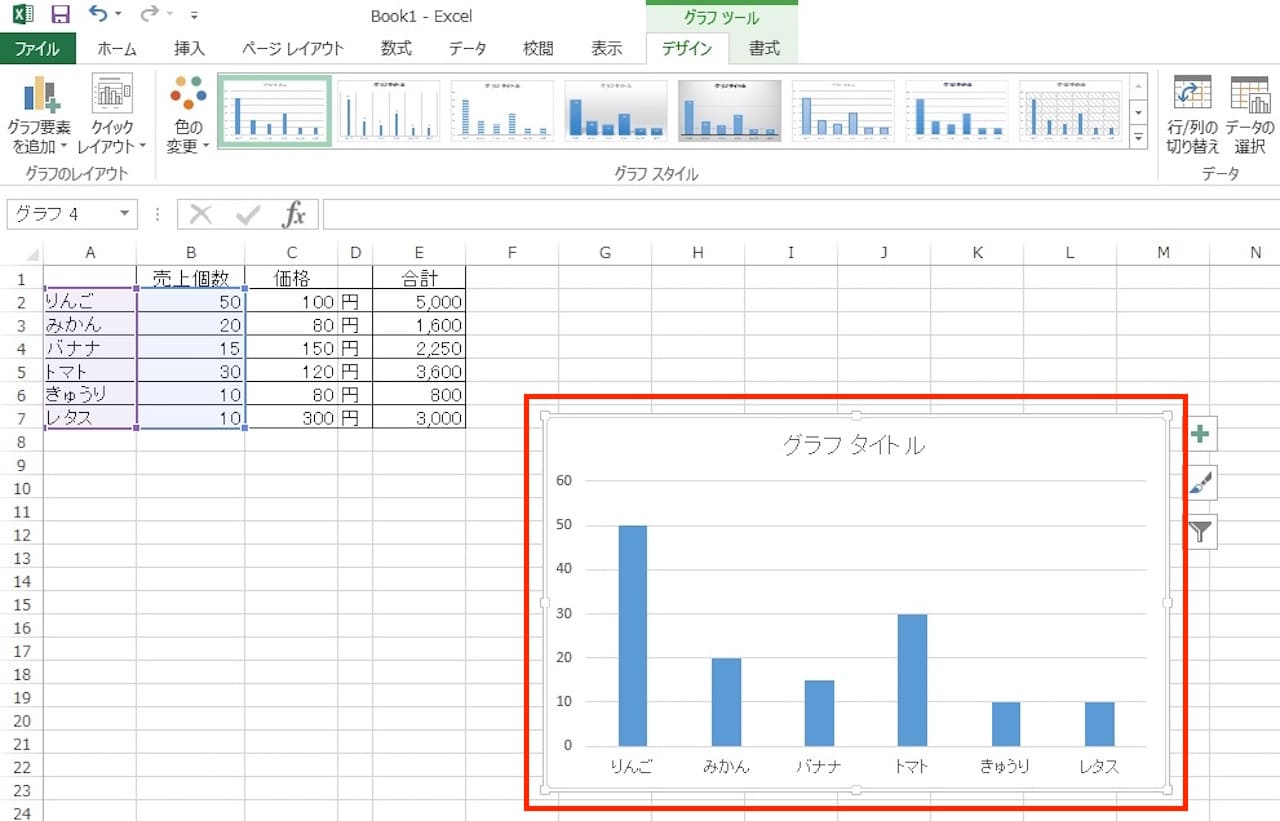 Excelで棒グラフを作る方法⑥