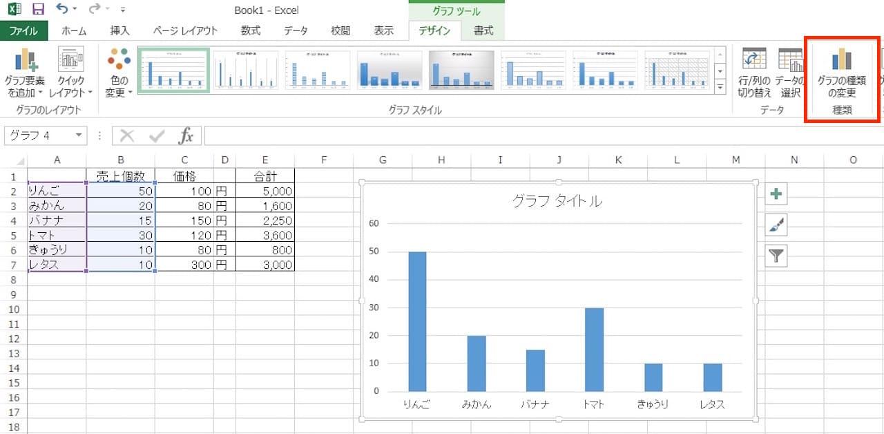 Excelで棒グラフを作る方法⑦