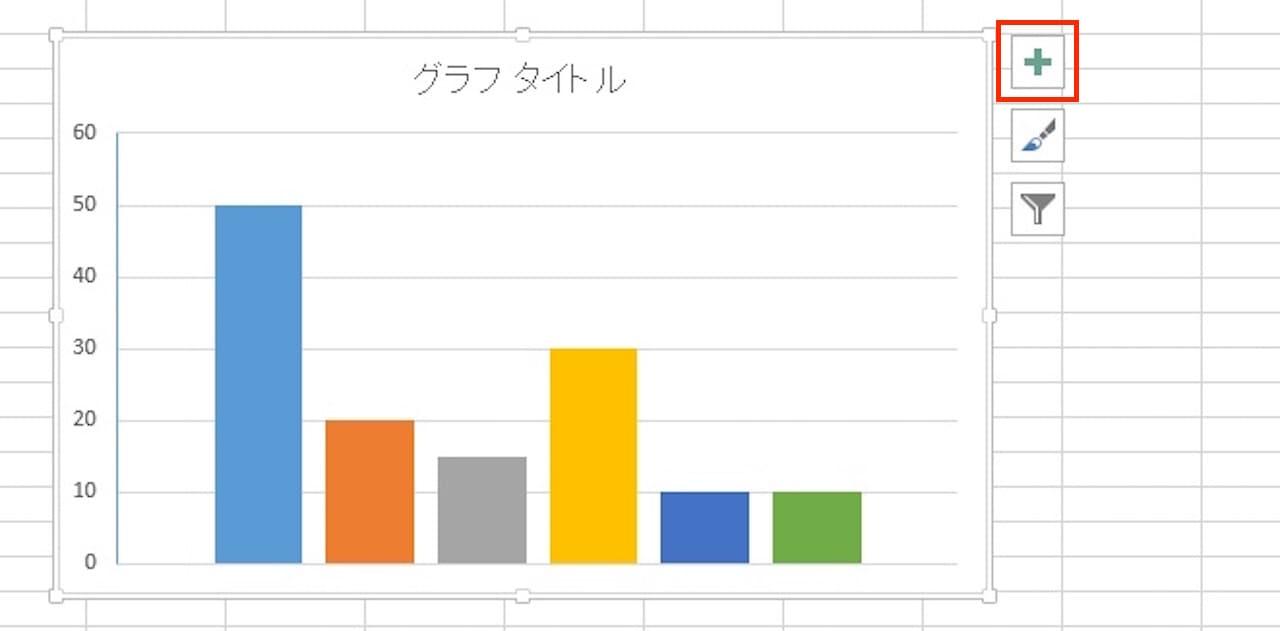Excelのグラフに凡例を表示する方法①