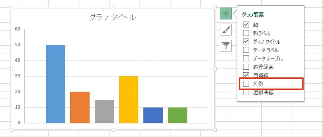 Excelのグラフに凡例を表示する方法②