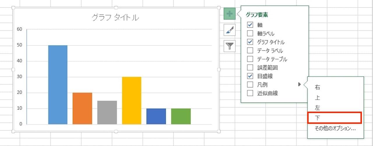 Excelのグラフに凡例を表示する方法③