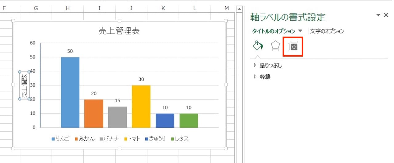 Excelのグラフに軸ラベルを表示する方法⑤