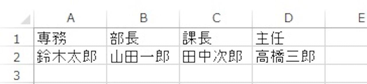セルの書式設定から縦書きにする方法①