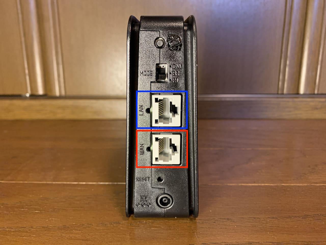 モデムとAterm WG1200CR(PA-WG1200CR)を接続する