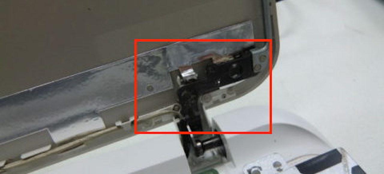 プラリペア『PL16C』を使ったノートパソコンのヒンジ修理例②